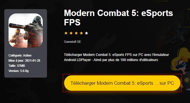 Installer Modern Combat 5: eSports FPS sur PC