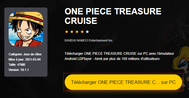 Installer ONE PIECE TREASURE CRUISE sur PC