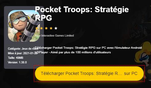 Installer Pocket Troops: Stratégie RPG sur PC