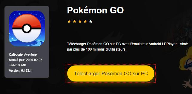 Installer Pokémon GO sur PC