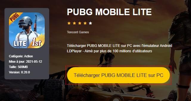 Installer PUBG MOBILE LITE sur PC