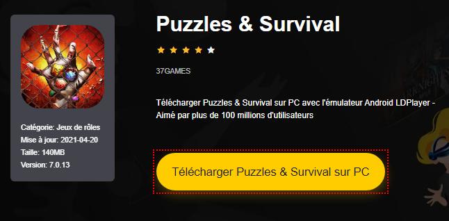 Installer Puzzles & Survival sur PC