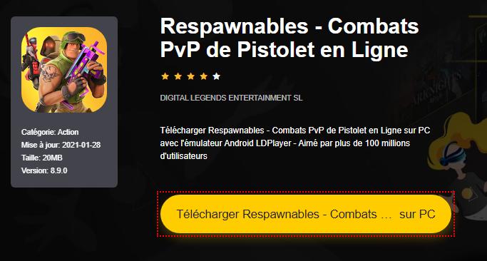 Installer Respawnables - Combats PvP de Pistolet en Ligne sur PC