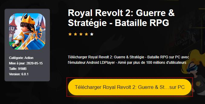 Installer Royal Revolt 2: Guerre & Stratégie - Bataille RPG sur PC