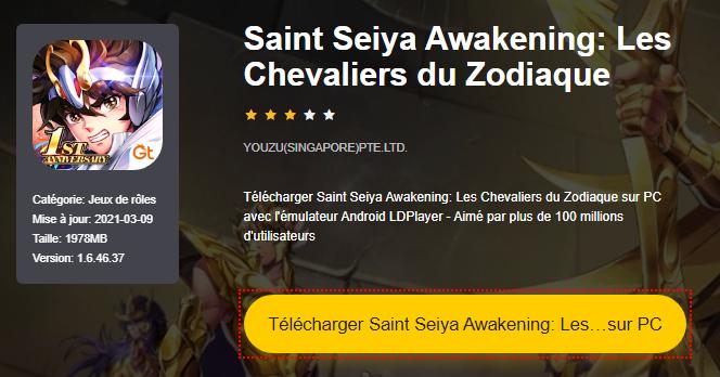 Installer Saint Seiya Awakening: Les Chevaliers du Zodiaque sur PC