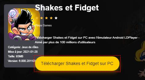 Installer Shakes et Fidget sur PC