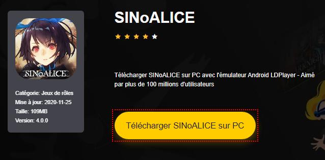 Installer SINoALICE sur PC