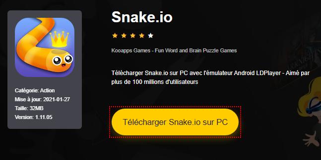 Installer Snake.io sur PC
