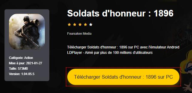 Installer Soldats d'honneur : 1896 sur PC