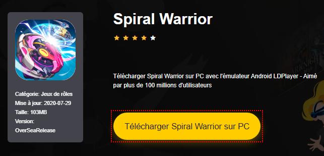 Installer Spiral Warrior sur PC