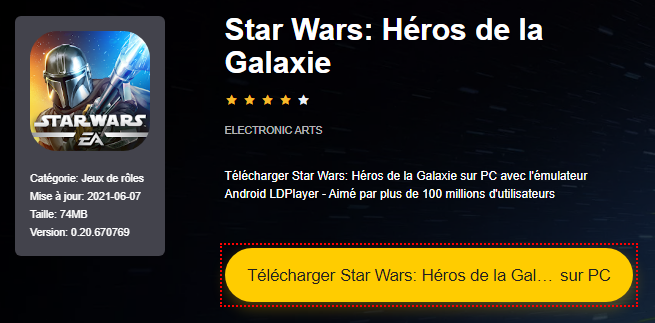 Installer Star Wars: Héros de la Galaxie sur PC