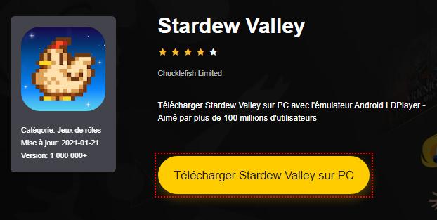 Installer Stardew Valley sur PC