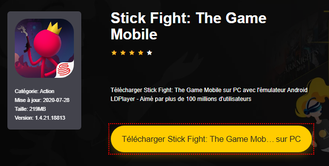 Installer Stick Fight: The Game Mobile sur PC