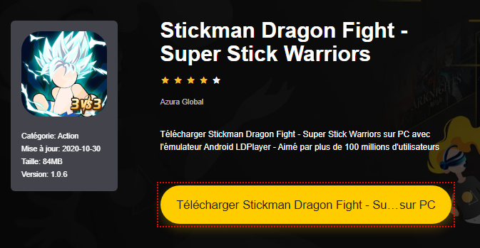 Installer Stickman Dragon Fight - Super Stick Warriors sur PC