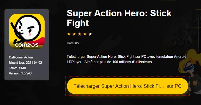 Installer Super Action Hero: Stick Fight sur PC
