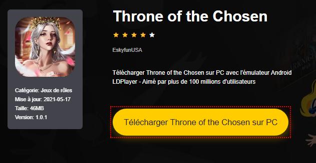 Installer Throne of the Chosen sur PC