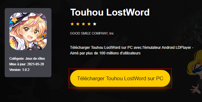 Installer Touhou LostWord sur PC