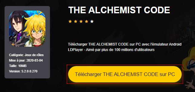 Installer THE ALCHEMIST CODE sur PC