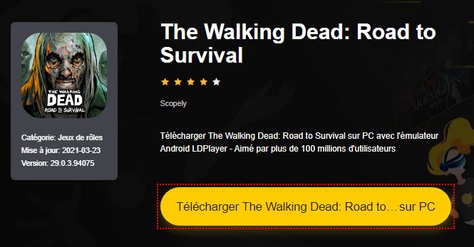 Installer The Walking Dead: Road to Survival sur PC