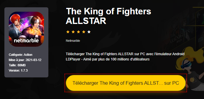 Installer The King of Fighters ALLSTAR sur PC