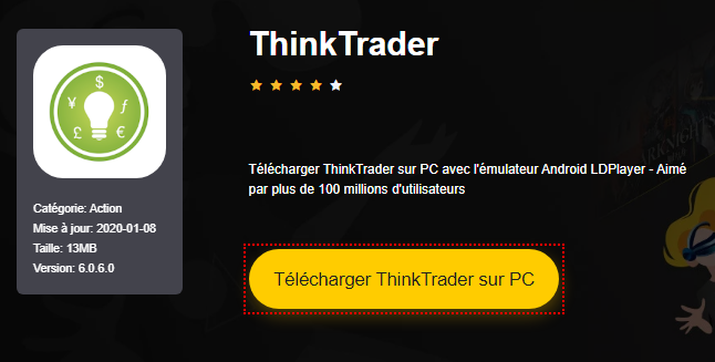 Installer ThinkTrader sur PC