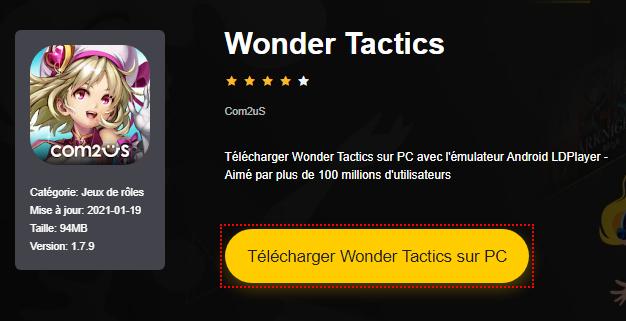 Installer Wonder Tactics sur PC