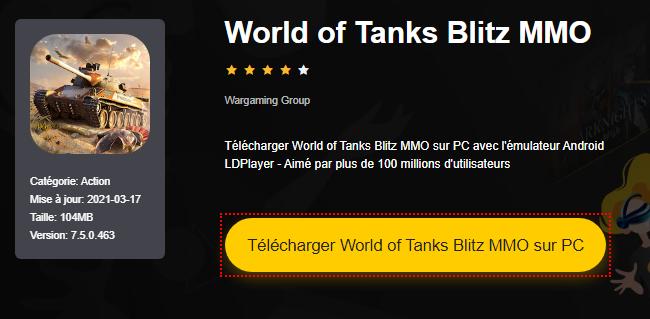 Installer World of Tanks Blitz MMO sur PC