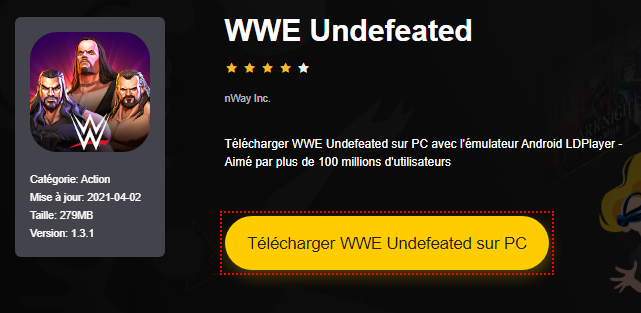 Installer WWE Undefeated sur PC