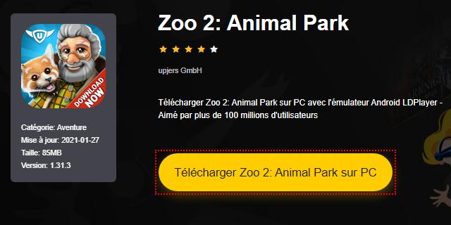 Installer Zoo 2: Animal Park sur PC