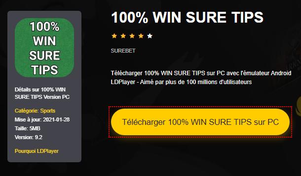 Installer 100% WIN SURE TIPS sur PC