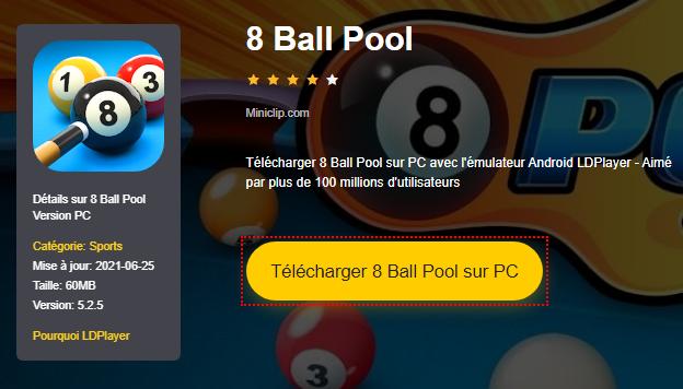 Installer 8 Ball Pool sur PC
