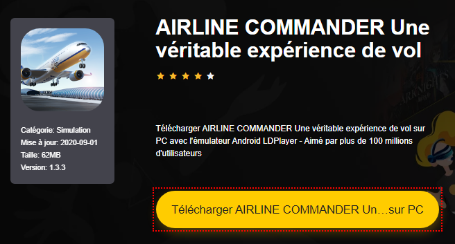 Installer AIRLINE COMMANDER Une véritable expérience de vol sur PC