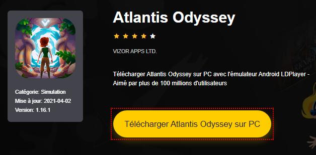 Installer Atlantis Odyssey sur PC