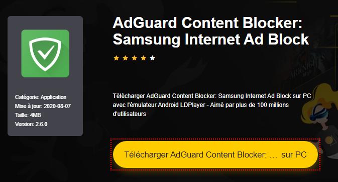 Installer AdGuard Content Blocker: Samsung Internet Ad Block sur PC