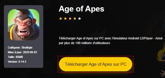 Installer Age of Apes sur PC