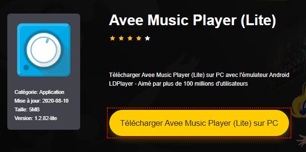 Installer Avee Music Player (Lite) sur PC