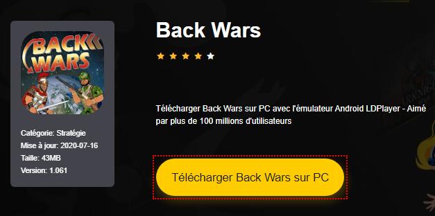 Installer Back Wars sur PC