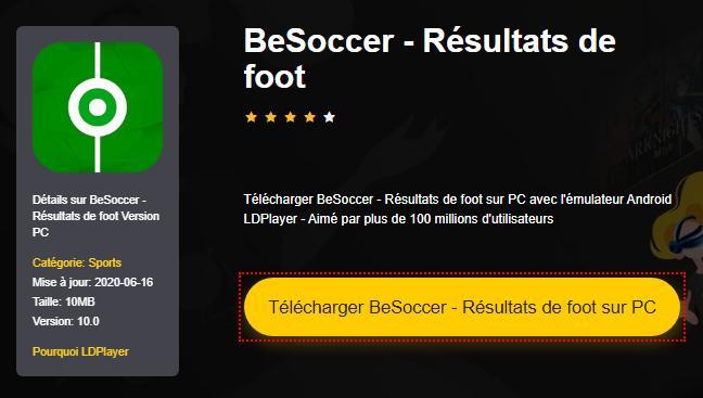 Installer BeSoccer - Résultats de foot sur PC