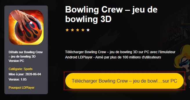 Installer Bowling Crew – jeu de bowling 3D sur PC
