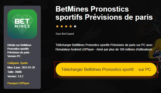 Installer BetMines Pronostics sportifs Prévisions de paris sur PC