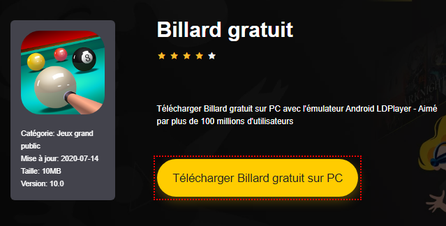 Installer Billard gratuit sur PC