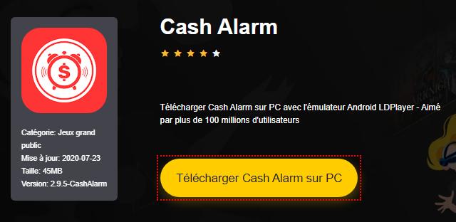Installer Cash Alarm sur PC
