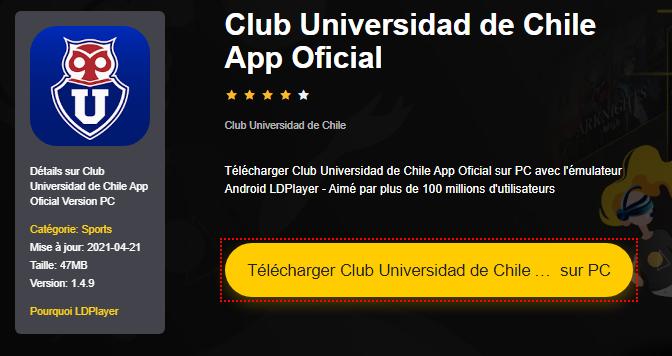 Installer Club Universidad de Chile App Oficial sur PC