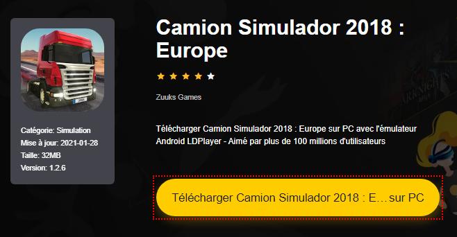 Installer Camion Simulador 2018 : Europe sur PC