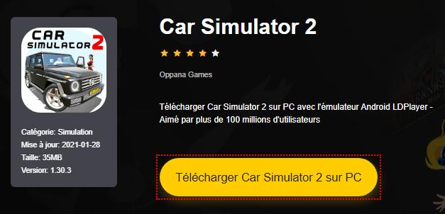 Installer Car Simulator 2 sur PC