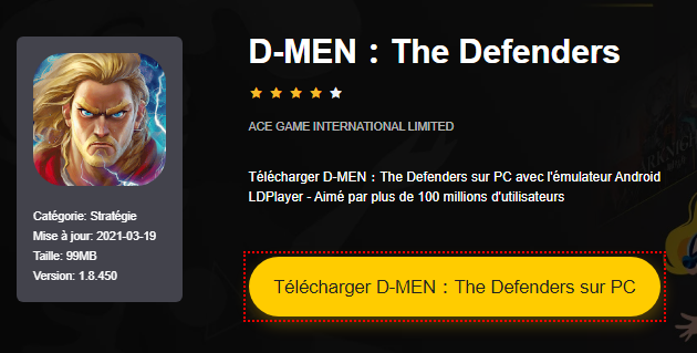 Installer D-MEN:The Defenders sur PC