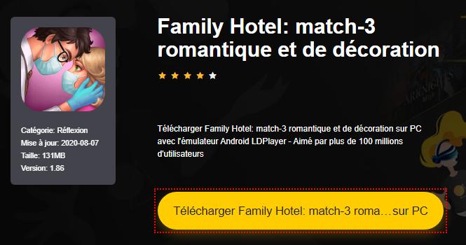 Installer Family Hotel: match-3 romantique et de décoration sur PC