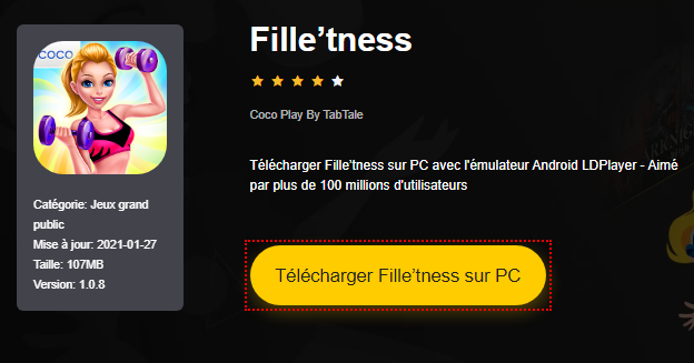 Installer Fille'tness sur PC