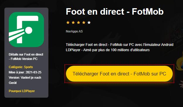 Installer Foot en direct - FotMob sur PC