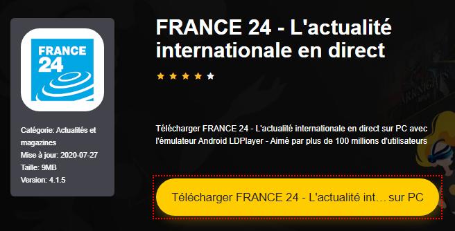 Installer FRANCE 24 - L'actualité internationale en direct sur PC